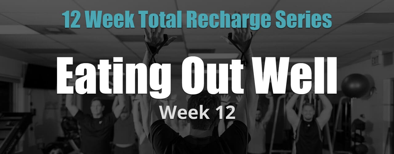 12 Weeks Total Recharge: Week 12 - Eating Out Well